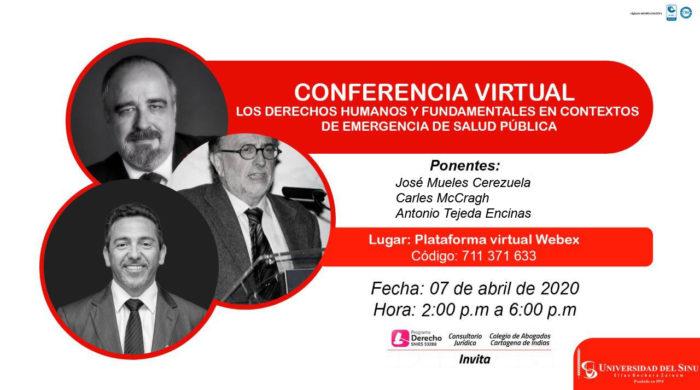 Los derechos humanos y fundamentales en contextes de emergencia de salud publica Banner Speakers 1
